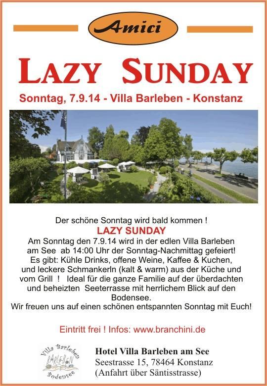 Amici Party – Lazy Sunday 07.09.14 – Konstanz Nach dem Regen am letzten Sonntag wollen wir nun e ...
