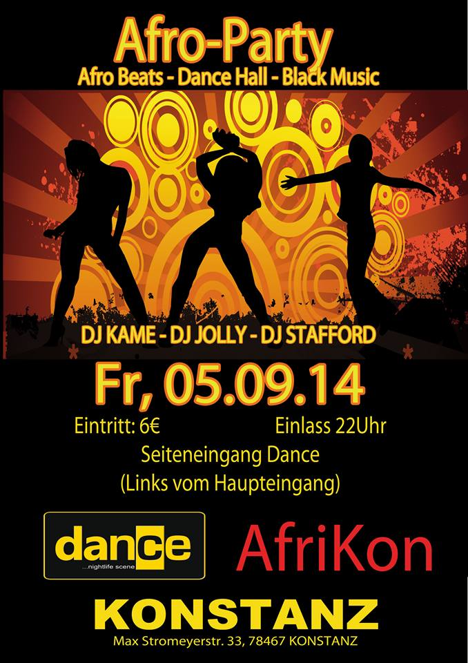 Afro Club Party – 5.9.14 – Dance – Konstanz