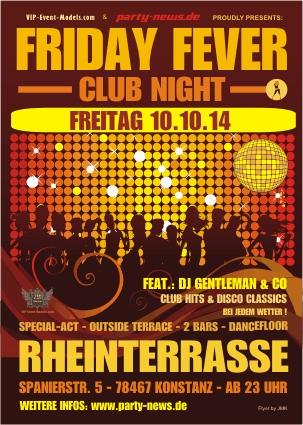 Friday Fever – Fr.10.10.14 – Rheinterrasse – Konstanz