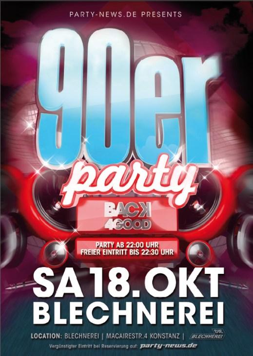 90er Party – Sa.18.10.14 – Blechnerei – Konstanz
