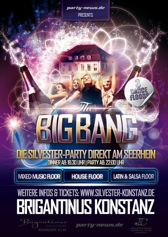 Silvester Big Bang Party – Brigantinus – Konstanz