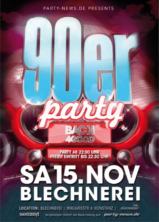 die 90er Party – Sa.15.11.14 – Blechnerei – Konstanz