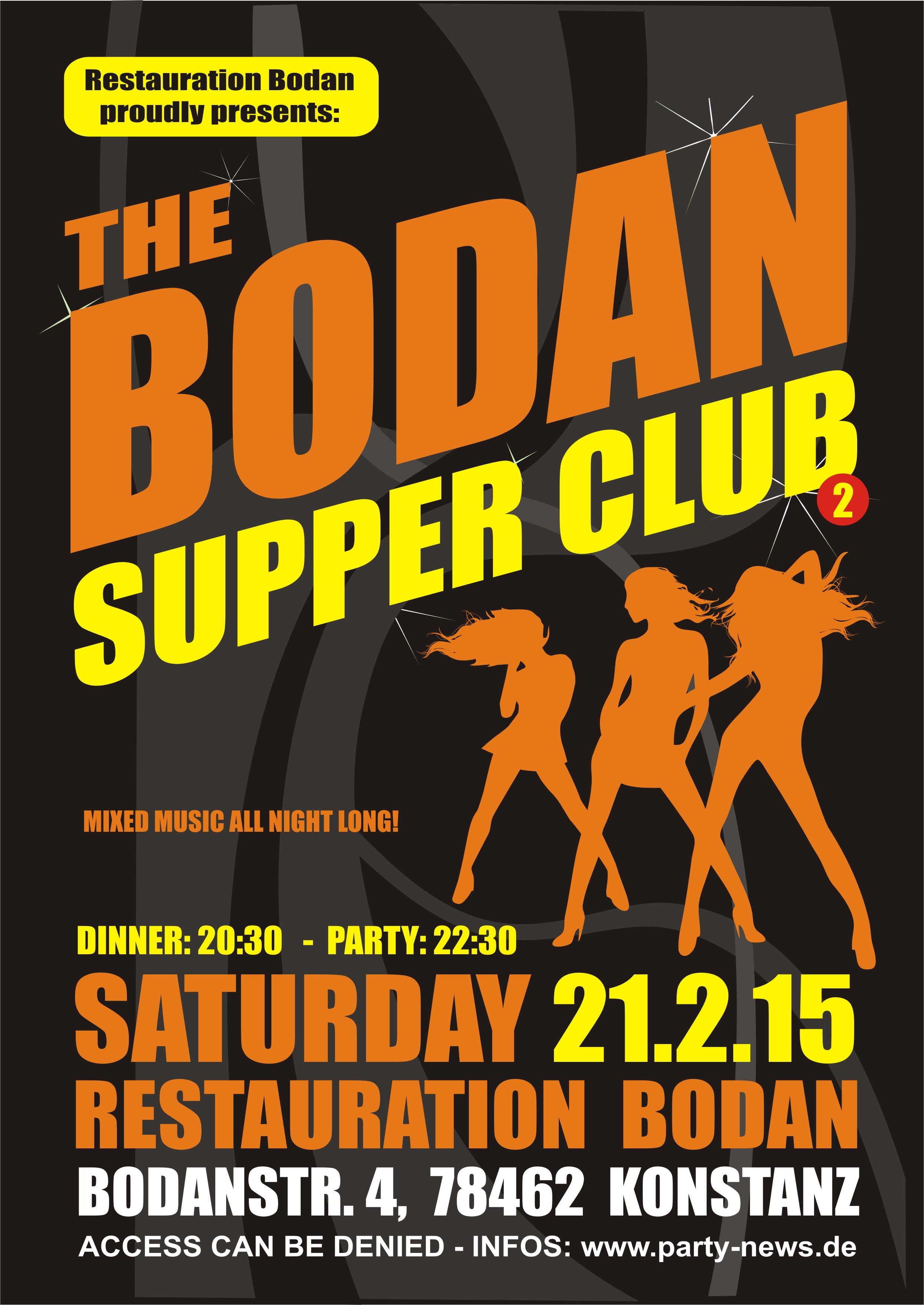 The Bodan Supper Club – Sa.21.2.15 – Bodan – Konstanz