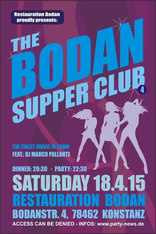 Bodan Supper Club – Sa.18.4.15 – Bodan – Konstanz