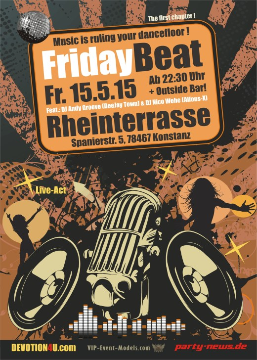 Freitag 15.5.15 – Friday Beat Party – Rheinterrasse – Konstanz