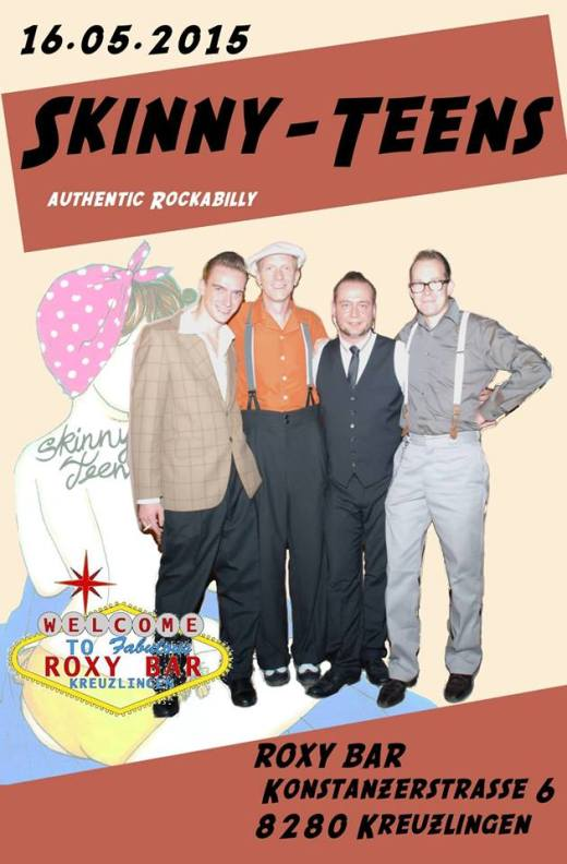 Pure & authentic Rockabilly! LIVE IM ROXY! don`t miss this :-) eure ROXYs