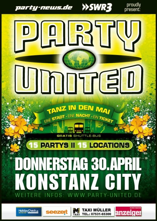 Party-United – Tanz in den Mai – 30.4.15 – Konstanz