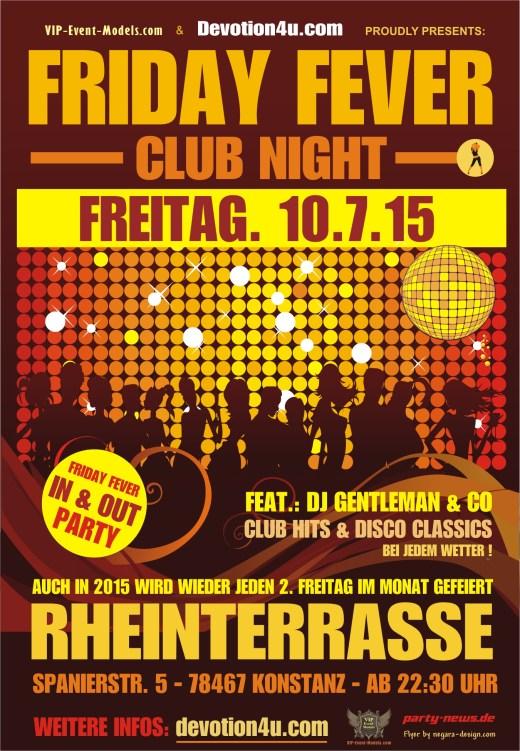 Friday Fever – Fr. 10.7.15 – Rheinterrasse – Konstanz