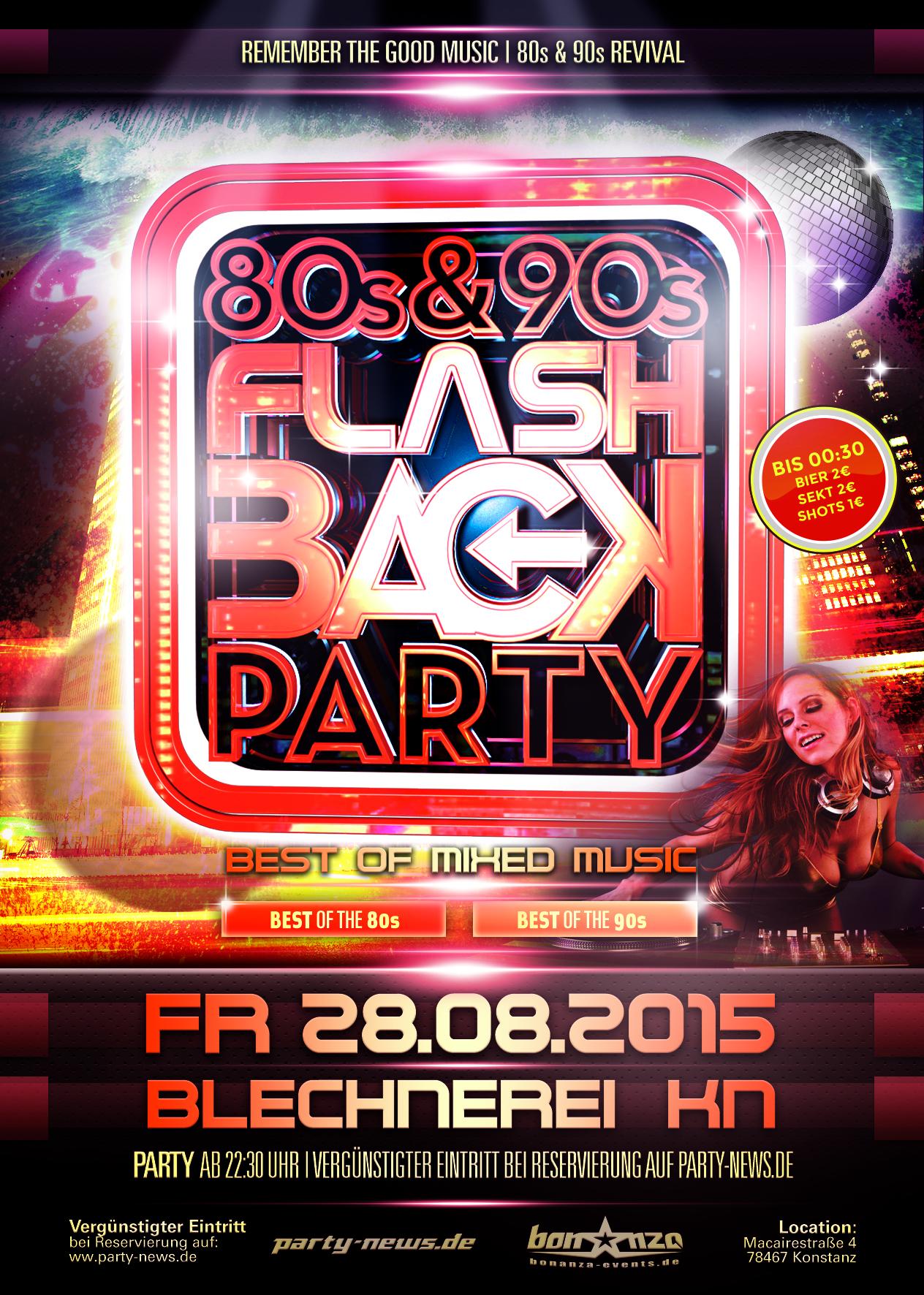 Flashback – Best of 80's & 90's – Blechnerei – Fr.22.8.15