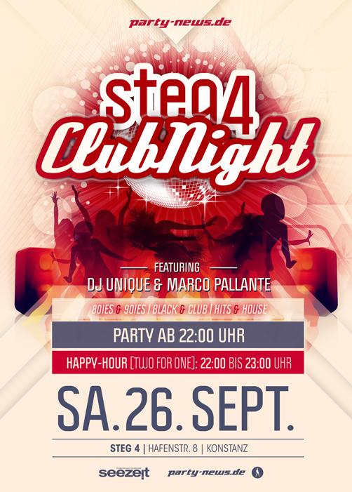STEG4 CLUBNIGHT – 26.9.15 – Steg4 – Konstanz