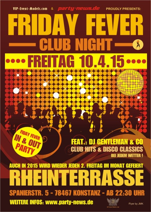 Friday Fever Party – Fr. 13.11.15 – Rheinterrasse – Konstanz