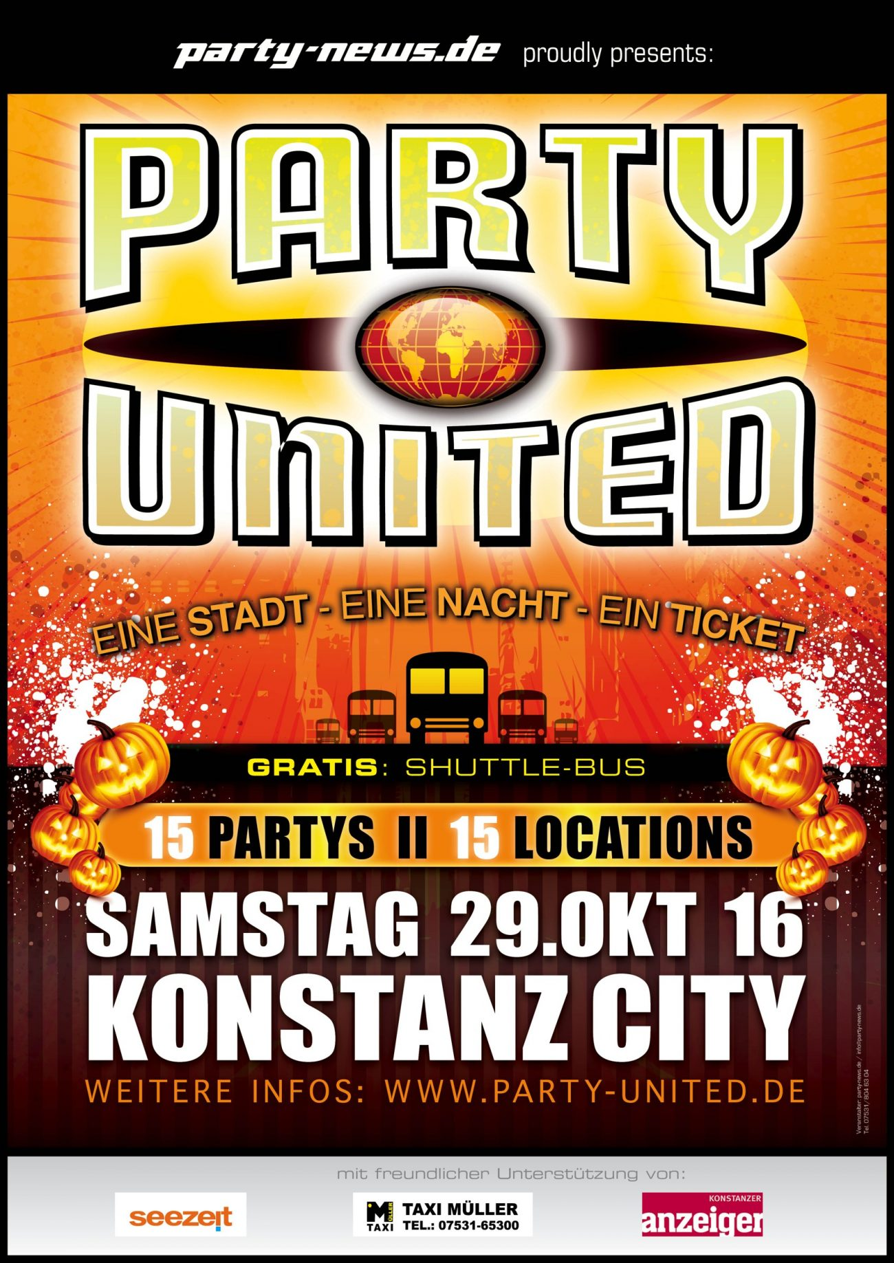 party united sa 29 10 16 konszanz city 15 partys flyer wall