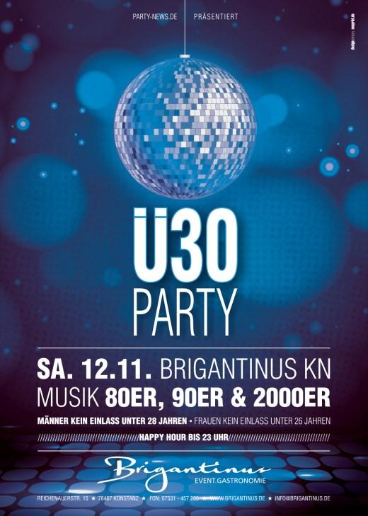 Ü30 Party – 12.11.16 – Brigantinus – Konstanz