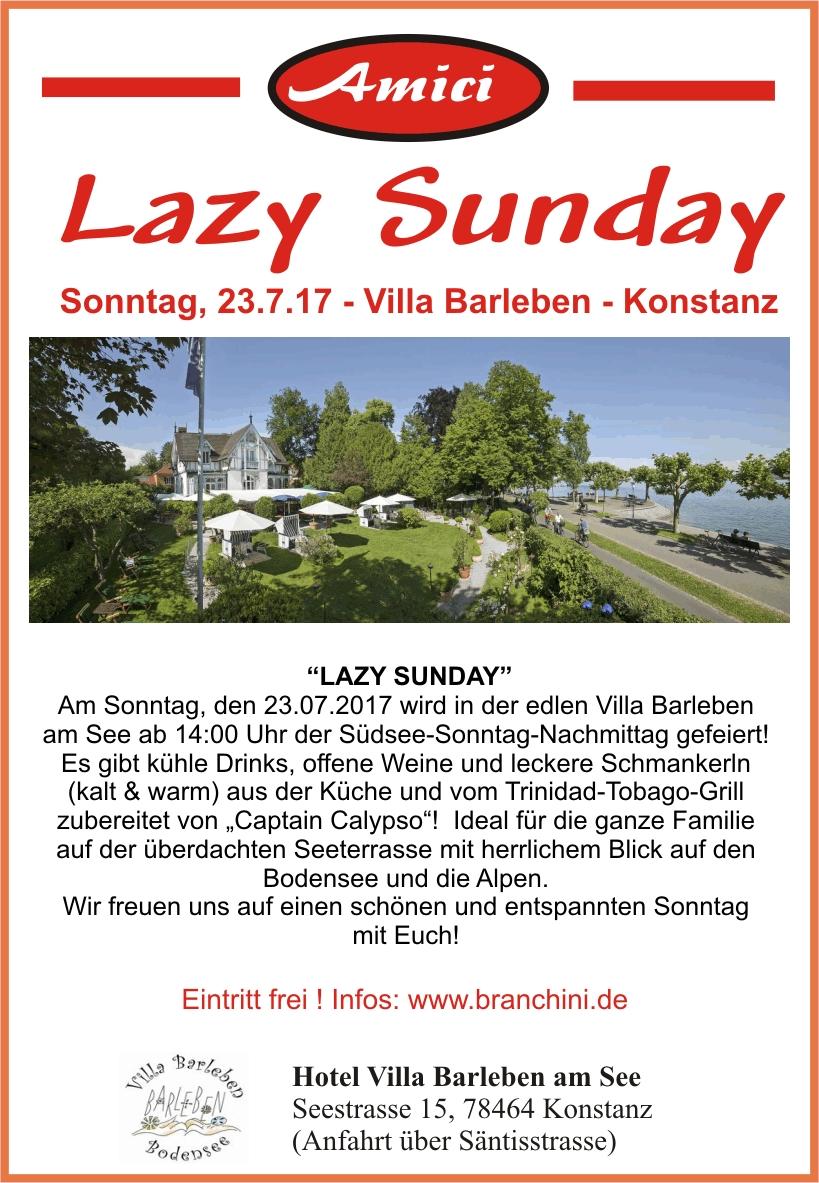 Lazy Sunday – 23.7.17 – Villa Barleben