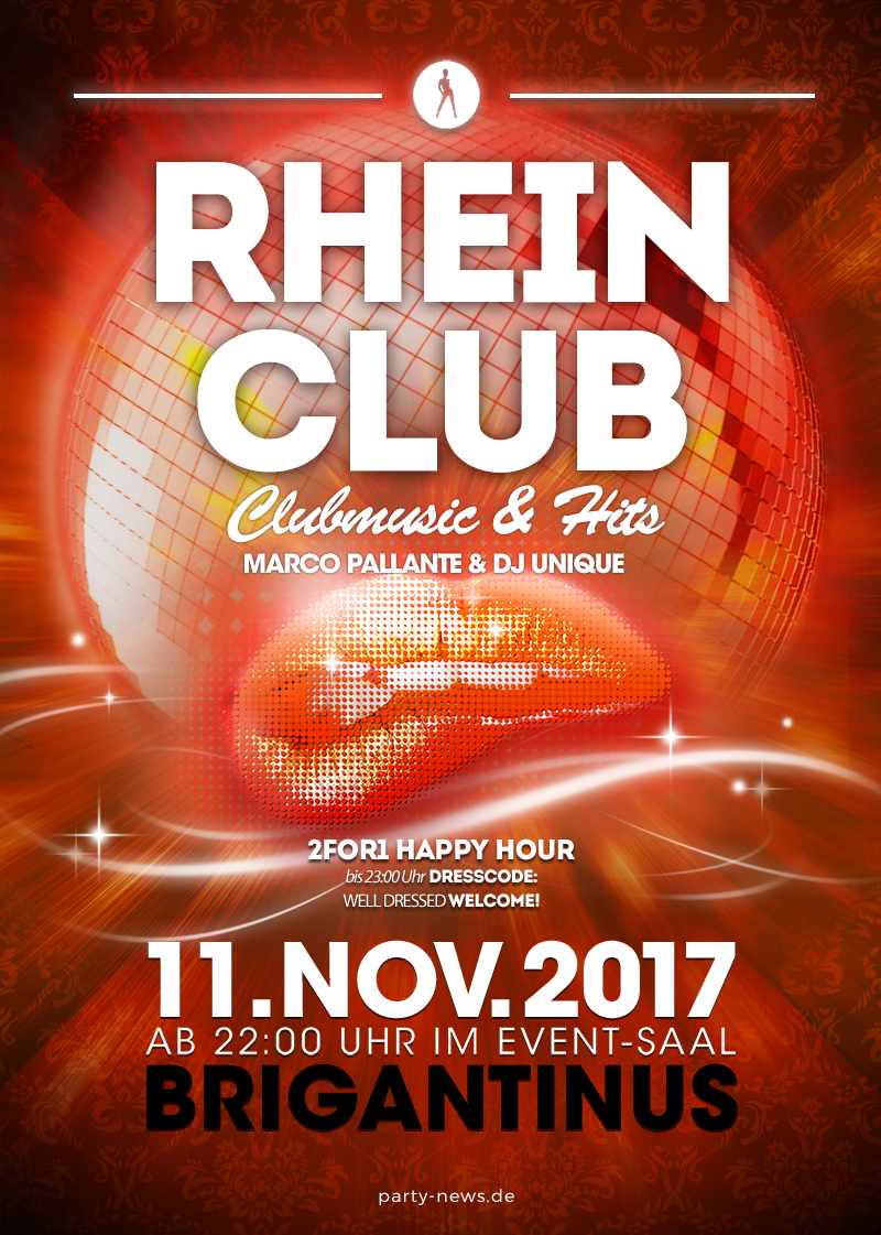 Rhein Club Sa 11 11 2017 Brigantinus Konst Flyer