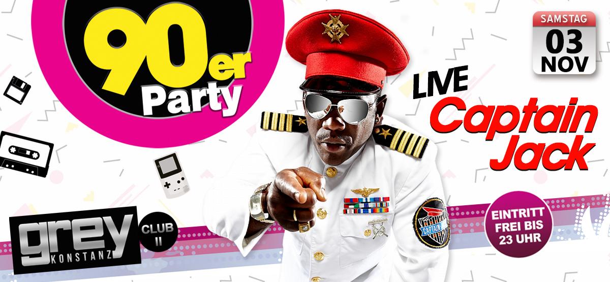 90er Party mit Captain Jack