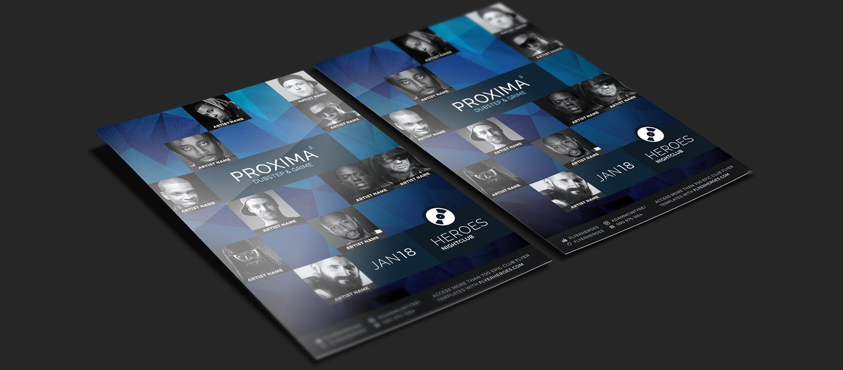 Free PSD Flyer Mock Up Templates Download By Carlos Viloria