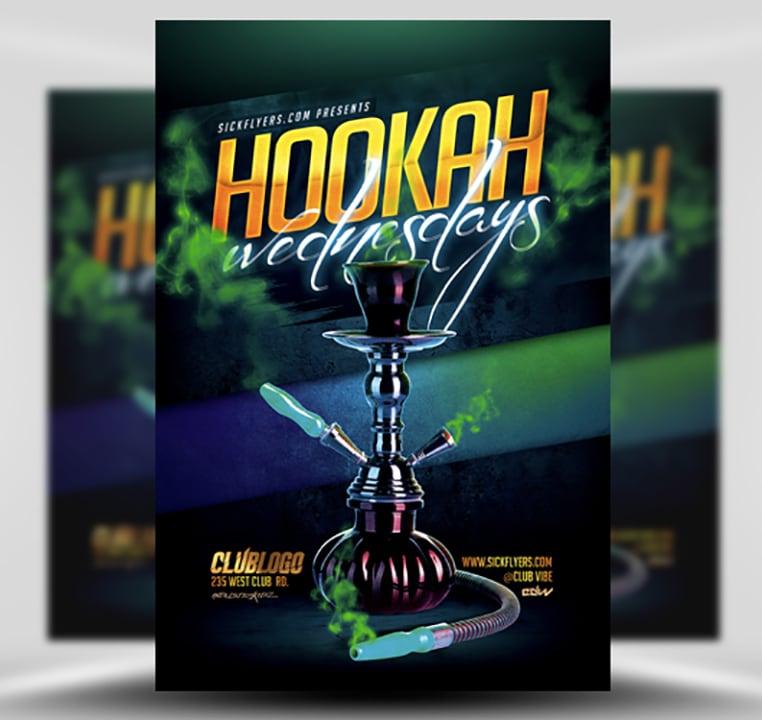 Hookah Wednesdays Flyer Template FlyerHeroes