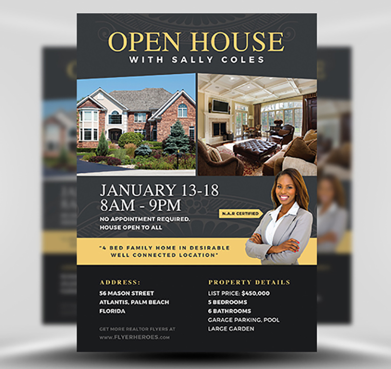 Real estate real estate marketing   templates written by: Open House Flyer Template 2 Flyerheroes