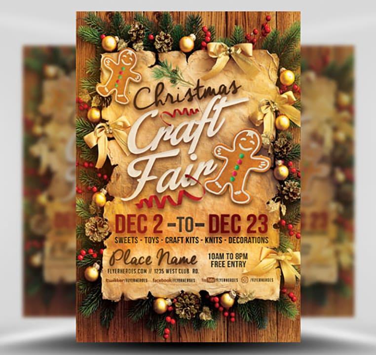 Christmas Craft Fair Flyer Template FlyerHeroes