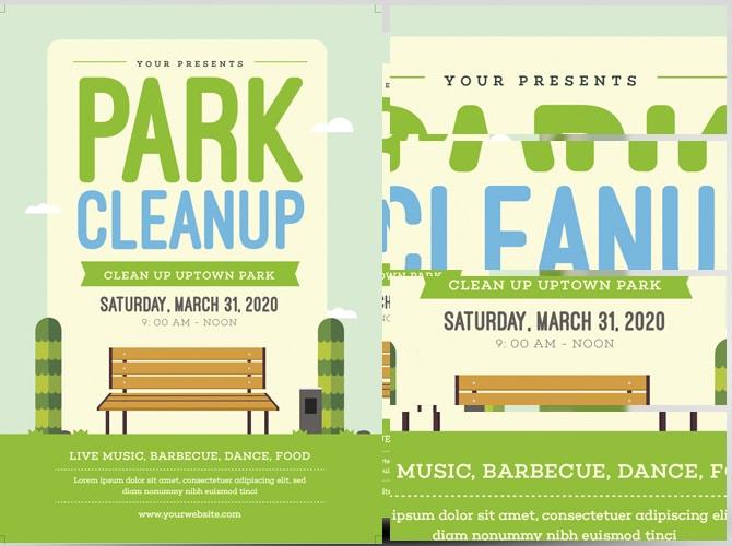 Park Clean Up Flyer Template FlyerHeroes