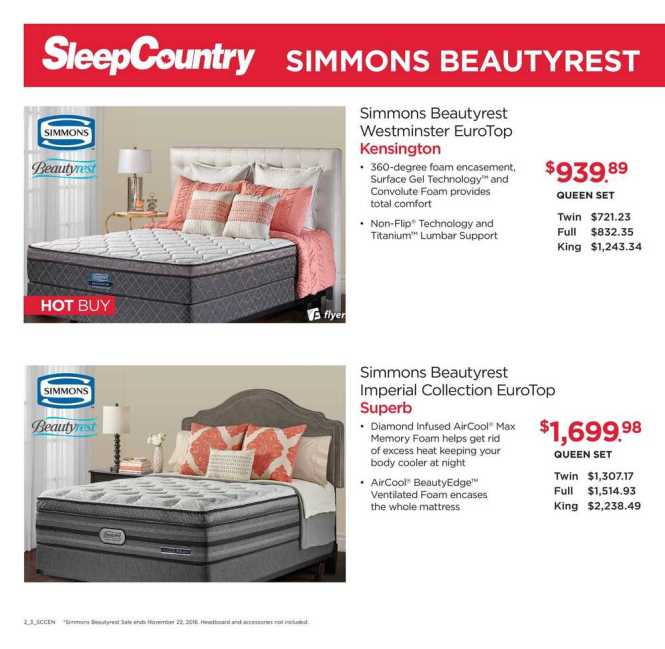 Sleep Country Flyer November 7 To 13 Canada