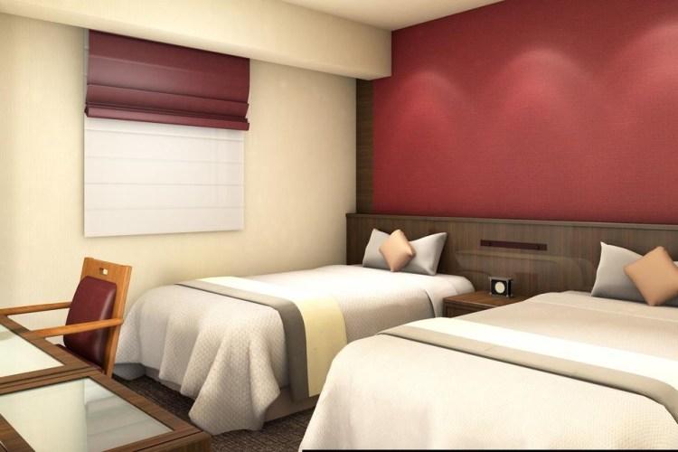 At Inn 酒店名古屋站 雙床房