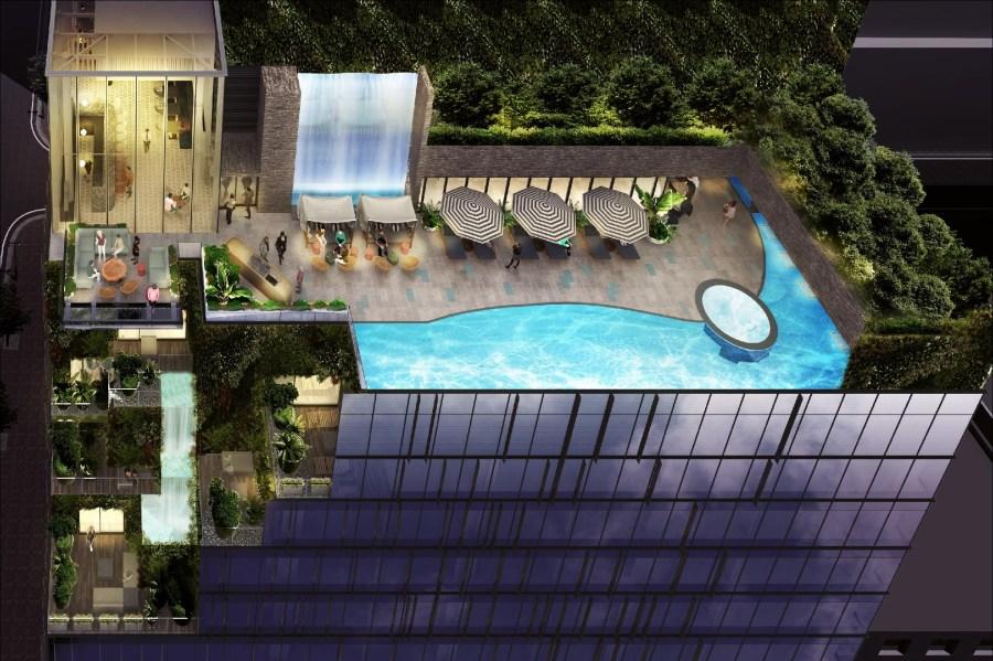 博多都酒店 頂樓溫泉區