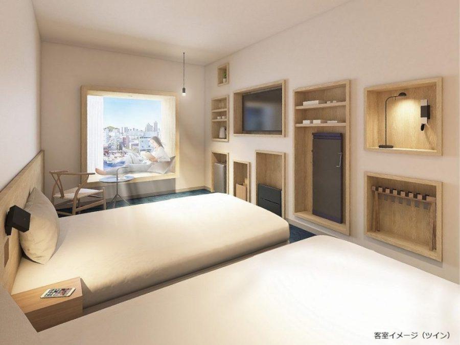 JR東日本東京灣新木場METS酒店 雙床房