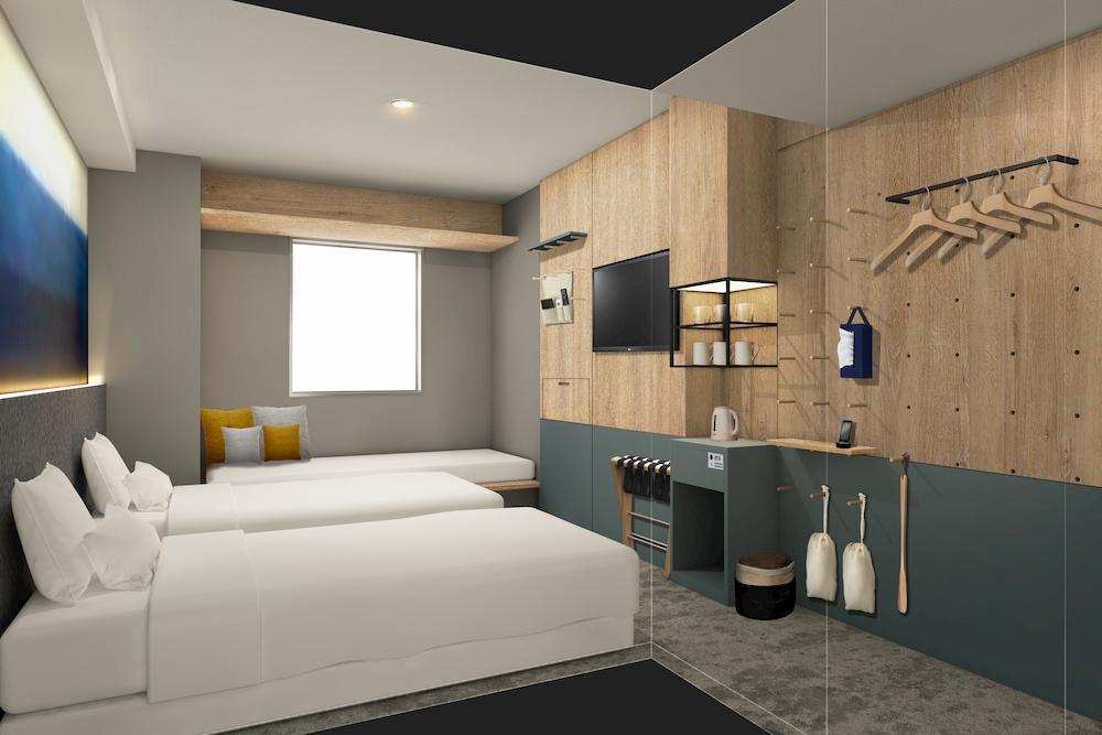 東京淺草橋曼迪設計酒店 雙床房