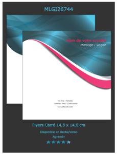 Modèle de flyers que vous pouvez sélectionner et personnaliser sur notre site d'imprimeur en ligne.