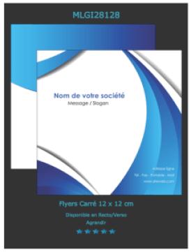 Exemple d'images de flyer  2 volets  à télécharger et à personnaliser en ligne.