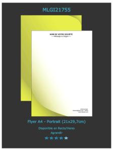 Un  des exemplaires de flyers que vous pouvez personnaliser sur notre site d'imprimeur en ligne.