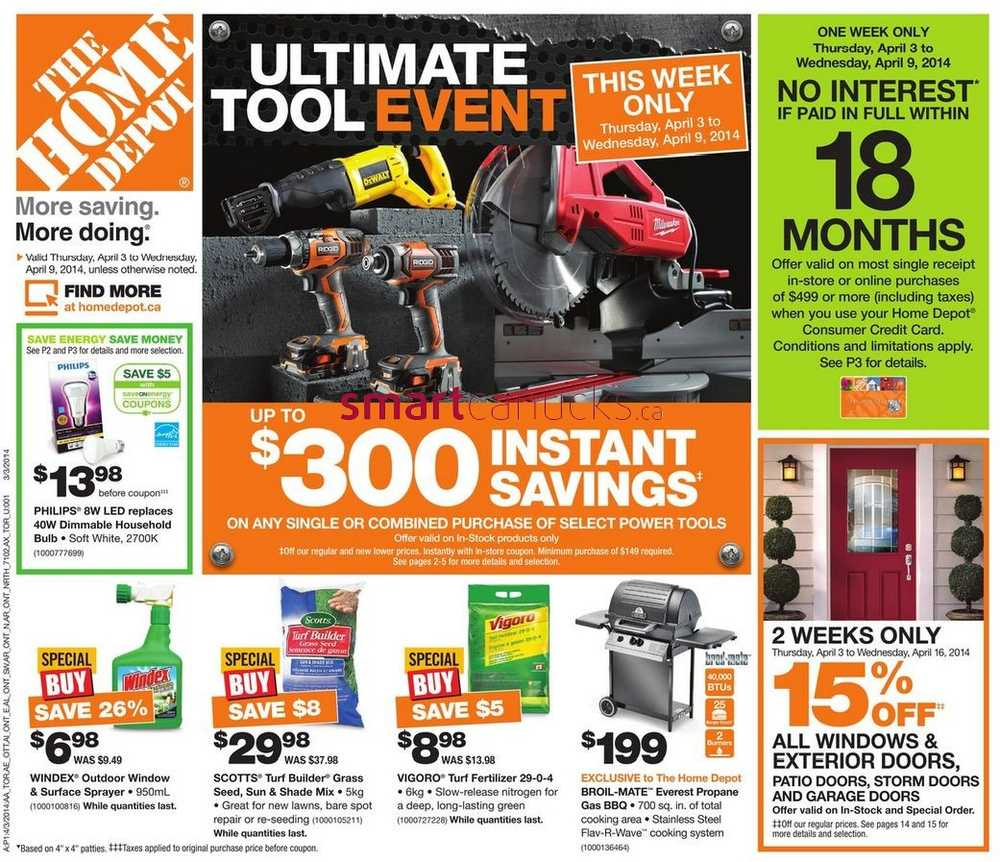April Home Depot Ad Weekly Flyer