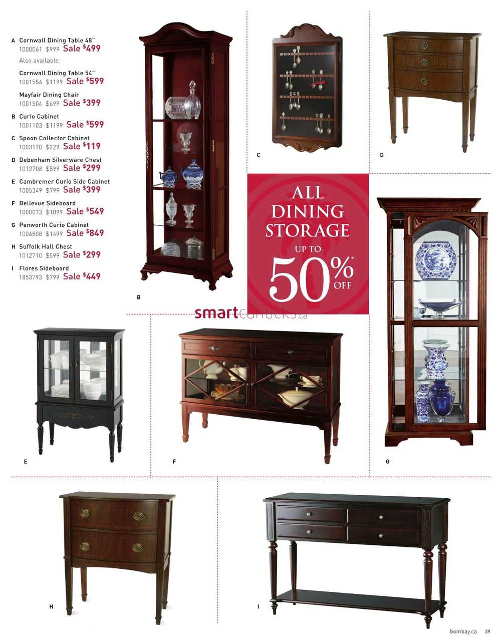 Bombay Furniture Sale Catalogue