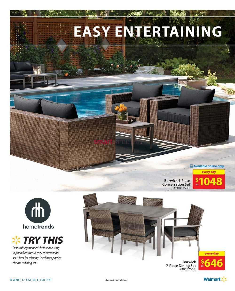 Walmart Outdoor Living Catalogue March 16 to 29 on Walmart Outdoor Living  id=25516