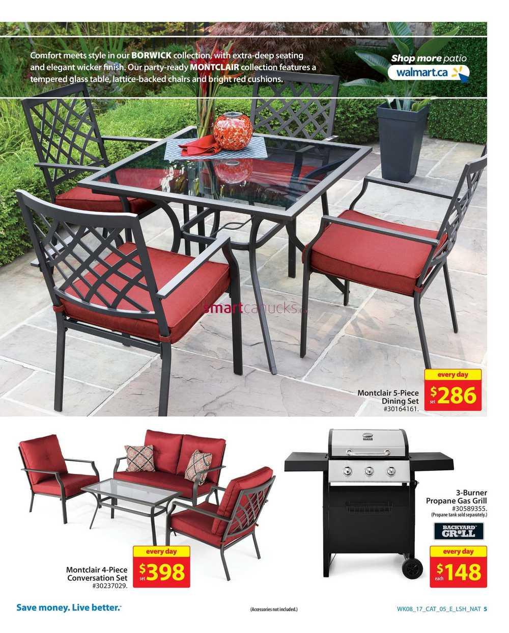 Walmart Outdoor Living Catalogue March 16 to 29 on Walmart Outdoor Living  id=19989