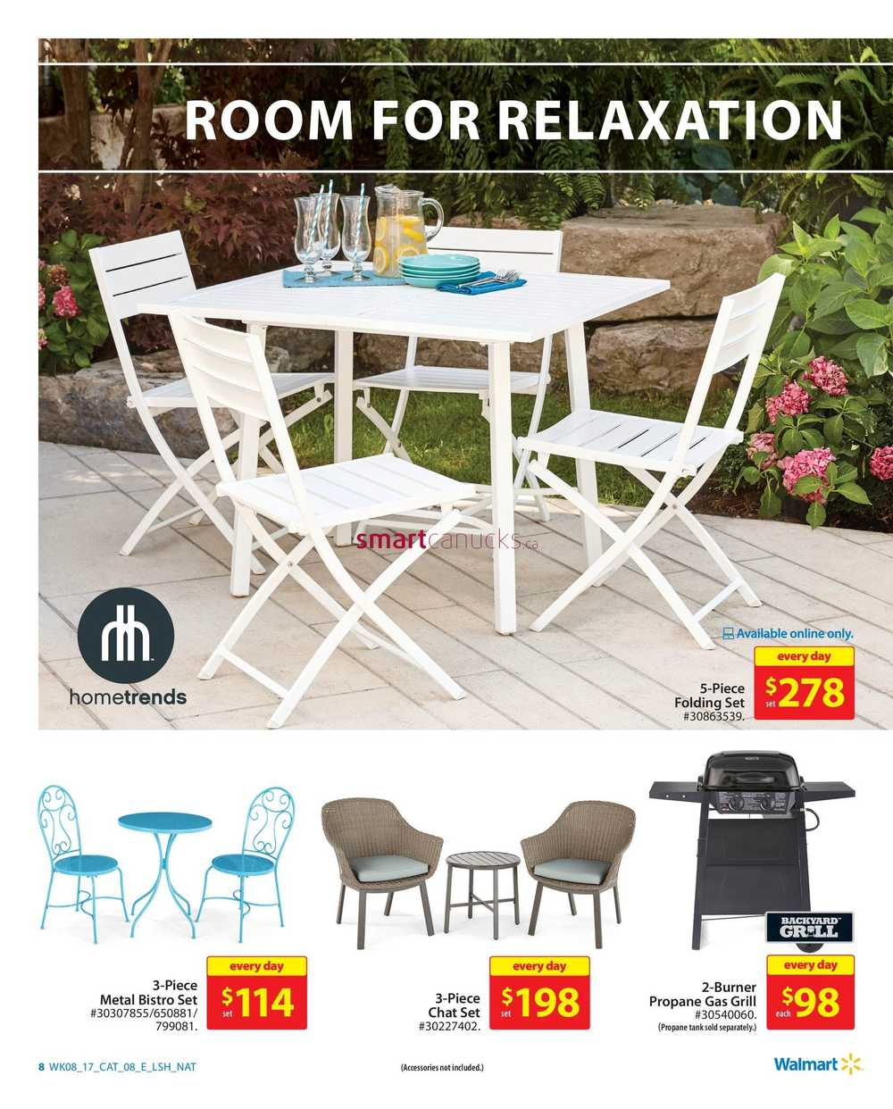 Walmart Outdoor Living Catalogue March 16 to 29 on Walmart Outdoor Living  id=99075