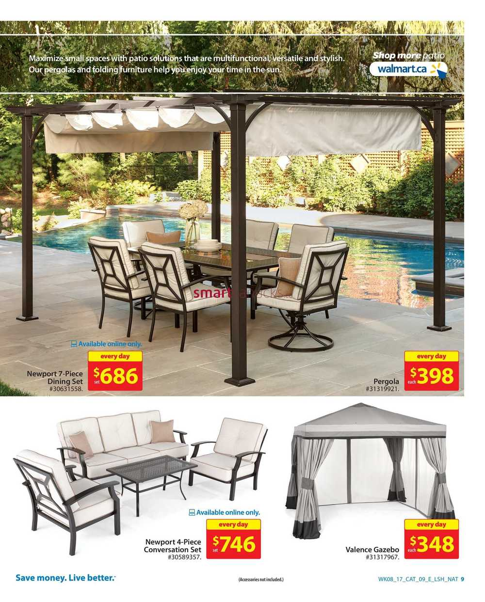 Walmart Outdoor Living Catalogue March 16 to 29 on Walmart Outdoor Living  id=35112