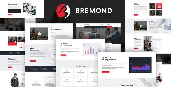 Bremond – Multipurpose Business Consulting WordPress Theme  – WP Theme Download