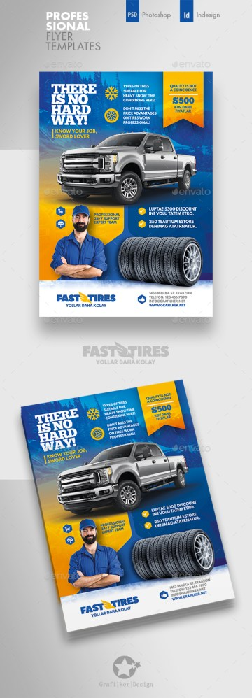 Flyers PSD – Auto Tires Flyer Templates – Download