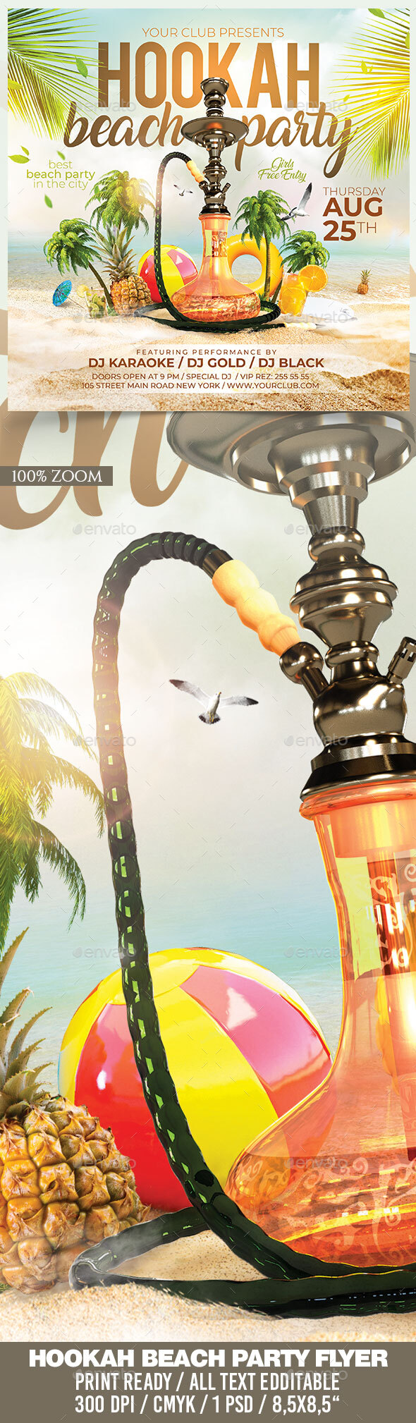 Flyers PSD – Hookah Sea trail Event – Download