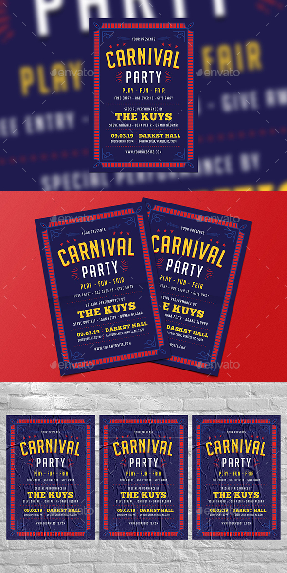 Flyers PSD – Carnival Match Flyer – Download