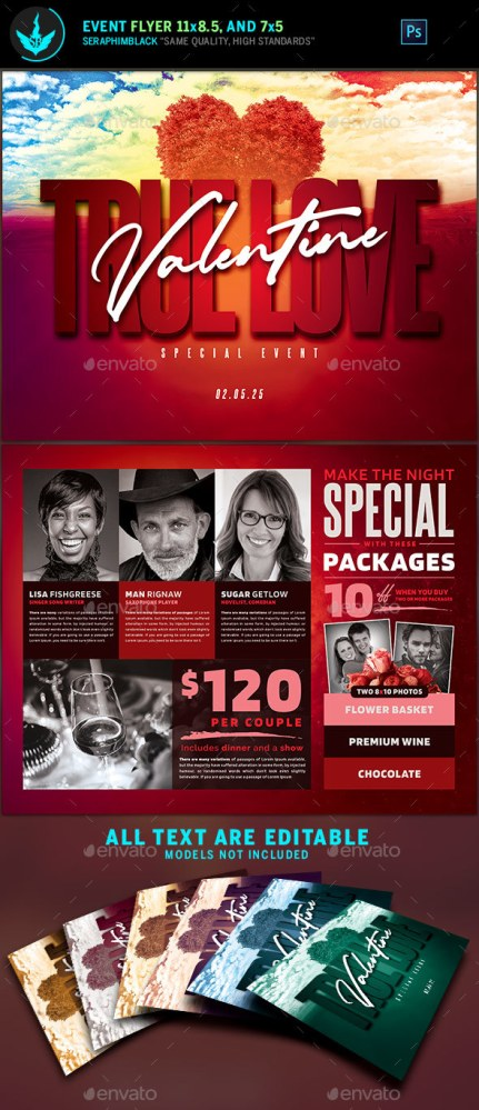 Flyers PSD – Valentine's Day Event Flyer Template – Download