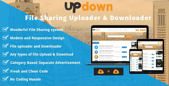 UpDown – File Sharing Uploader / Youtube / Downloader & Working a blog – PHP Script Download