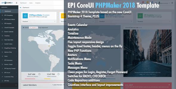 EPI CoreUI Template for PHPMaker 2018 – PHP Script Download