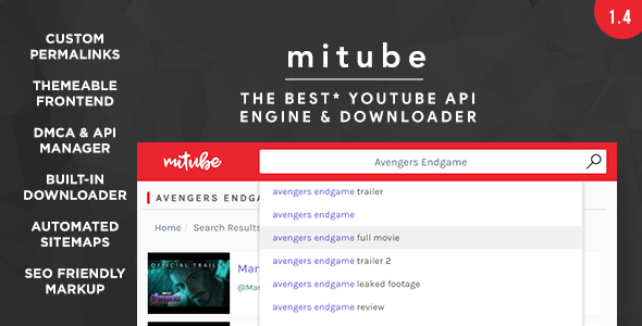 MiTube – The YouTube Autopilot Engine You Deserve! – PHP Script Download