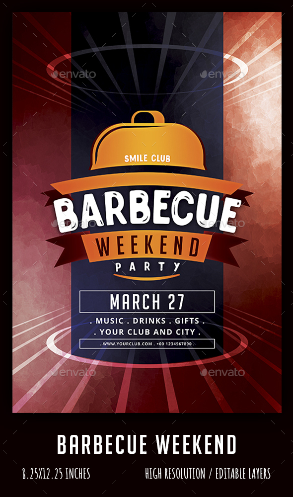 Flyers PSD – Barbecue weekend – Download