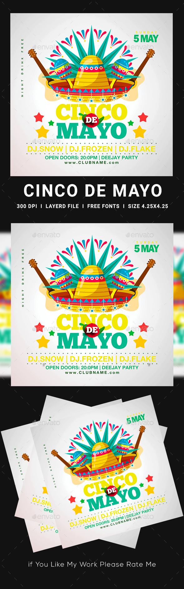 Flyers PSD – Cinco De Mayo Flyer – Download