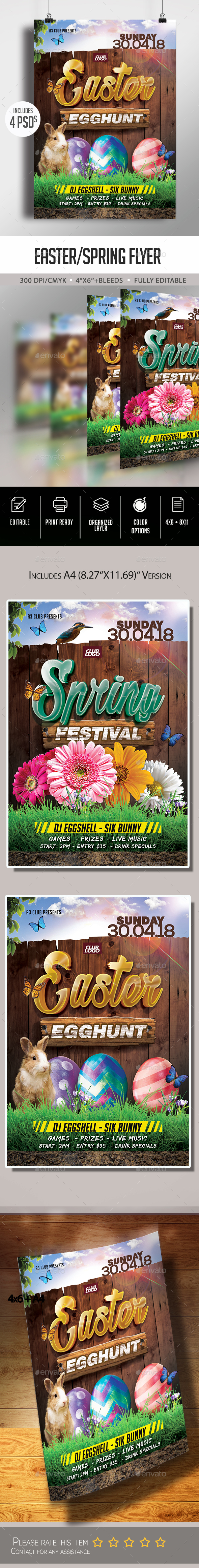 Flyers PSD – Easter/Spring Flyer – Download